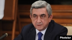 Armenian President Serzh Sarkisian (file photo)