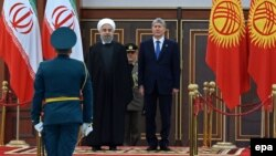 Иран менен Кыргызстан президенттери.