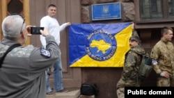 Ілюстраційне фото. Мітинг прибічників сайту «Миротворець» біля Міністерства інформаційної політики України. Київ, травень 2016 року