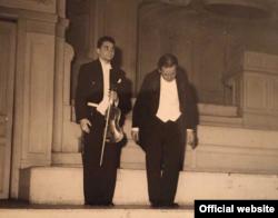 În recital cu elevul său violonistul Serge Blanc la Paris în 1952