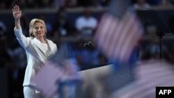 Хиллари Клинтон на съезде Демократической партии США