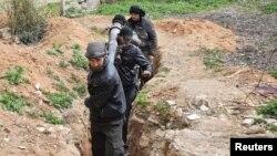 Повстанцы в районе Арбина, Сирия, февраль 2015 года.