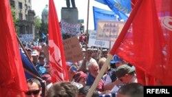 Sa jednog od protesta u Srbiji - iz arhive