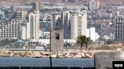 Пристанишниот град Акаба во Јордан.