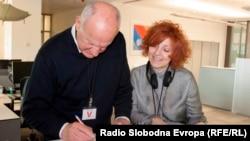 Abaz Arslanagić i novinarka RSE Biljana Jovićević