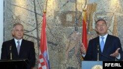 Ivo Sanader i Milo Đukanović u Podgorici
