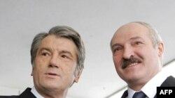 Архівне фото. Зустріч президентів Віктора Ющенка та Олександра Лукашенка в Гомелі 20 січня 2009 р.