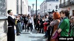 Gürcüstanda feministlərin yürüşü.