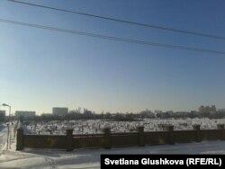 Астанадағы ескі мұсылман зираты.