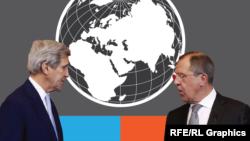 АҚШ мемлекеттік хатшысы Джон Керри мен Ресей сыртқы істер министрі Сергей Лавров.