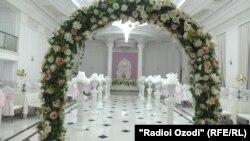 Свадебный зал. Иллюстрационное фото.