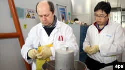 IAEA inspectors run tests inside Iran's Natanz uranium enrichment plant earlier this year.