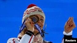 Биатлонистка Анастасия Кузьмина выиграла золото для сборной Словакии