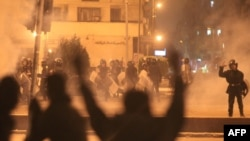 Egyptian police fired rubber bullets and tear gas to break up demonstrations on November 19.