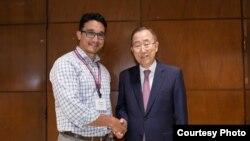 Шамиль Ибрагимов и бывший генсек ООН Пан Ги Мун