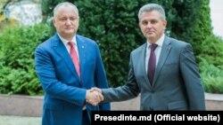 Igor Dodon și Vadim Krasnoselski la Holercani