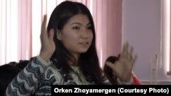 Мөлдір Тұрсынбекова, Еуразия ұлттық университетінің 3-курс студенті. Астана, 7 желтоқсан 2012 жыл.