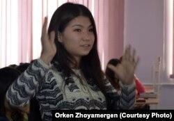Мольдир Турсынбекова, студентка Евразийского национального университета.