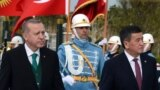 Turkey - President Sooronbai Jeenbekov and Turkish President Recep Tayyip Erdogan in Anakra. Ankara, Turkey, April 9, 2018