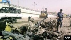 Pamje pas një sulmi të mëparshëm në Falluxha