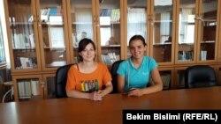 Monika Mariq (djathas) dhe Anja Zhivkoviq - Studente serbe të albanologjisë