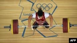 Londondaky Olimpia oýunlaryna çykyş edýän Daniýar Ismaýilow, 2012 ý.