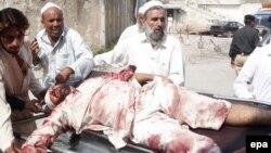 Один из раненных при взрыве в мечети в районе Хайбер