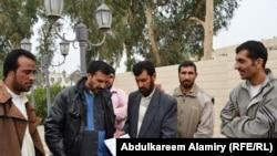 رئيس جمعية الإنماء الإنساني هادي الموسوي وبعض الناشطين
