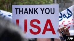 Християни Іраку проводять мітинг під посольством США у місті Ірбіль, 11 серпня 2014