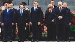 Афіцыйнае мерапрыемства на Дзень перамогі ў Менску, 9 траўня 2019 году Віктар Лукашэнка, Дзьмітры Лукашэнка, Мікалай Лукашэнка, Аляксандар Лукашэнка