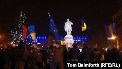 Демонстрации сторонников евроинтеграции в Донецке проходят ежедневно, но собирают лишь несколько десятков человек