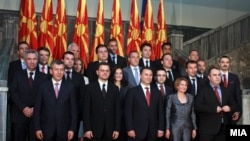 Macedonia - New government of Macedonian Prime Minister Nikola Gruevski, Skopje, 29Jul2011