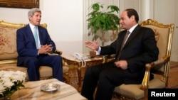 الرئيس المصري عبد الفتاح السيسي يستقبل وزير الخارجية الأميركي جون كيري