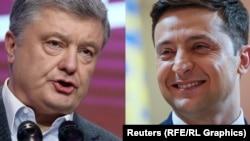 Петр Порошенко и Владимир Зеленский. Коллаж