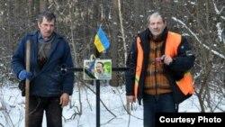 Не месте гибели Юрия Вербицкого установлен крест