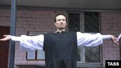 Илья Фарбер после выхода из следственного изолятора в Твери