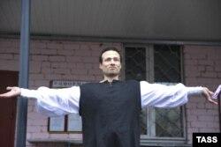 Илья Фарбер после освобождения из СИЗО. Тверь, январь 2013 года