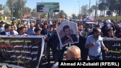 Iraqis in Baghdad mourned Mohammed Bdaiwi Owaid Al-Shammari one day after the shooting, which allegedly was committed by a member of President Jalal Talabani's guard.