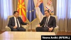 Архивска фотографија: Премиерот Зоран Заев и српскиот претседател Александар Вучиќ