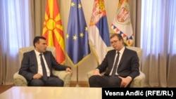 Makedonski premijer Zoran Zaev i predsjednik Srbije Aleksandar Vučić u Beogradu u novembru 2017