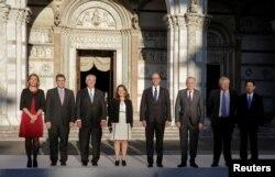 Рекс Тіллерсон серед решти дипломатів-учасників зустрічі «Групи семи»