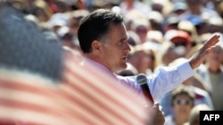 Republican presidential nominee Mitt Romney addresses supporters in Florida.