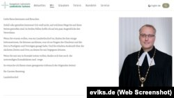 Pagina web a Bisericii Evanghelice din Saxonia (Screenshot)