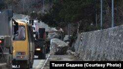 Обвал на трасі Ялта – Севастополь