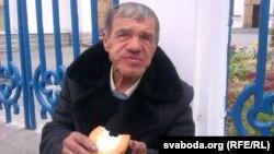 Магілёўскі бяздомнік Альберт Байдо (архіўнае фота)