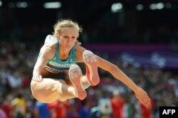 Ольга Рыпакова, олимпийская чемпионка по легкой атлетике. Лондон, 3 августа 2012 года.