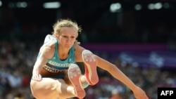 Үш қарғып секіруден Лондон олимпиадасының чемпионы қазақстандық Ольга Рыпакова.