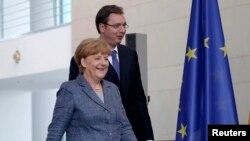 Aleksandar Vučić i Angela Merkel u Berlinu