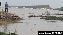Uzbek officials say the breach has weakened the structure and they fear it could cause the entire dam to collapse.