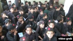 An overcrowded school in northwestern Pakistan.